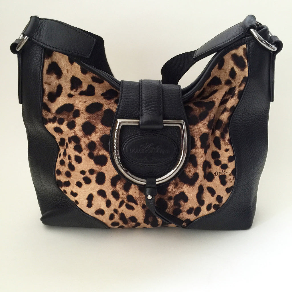 Authentic DOLCE & GABBANA  Leopard Hobo Bag