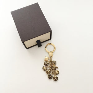 Authentic LOUIS VUITTON Gold Key Holder/Bag Charm
