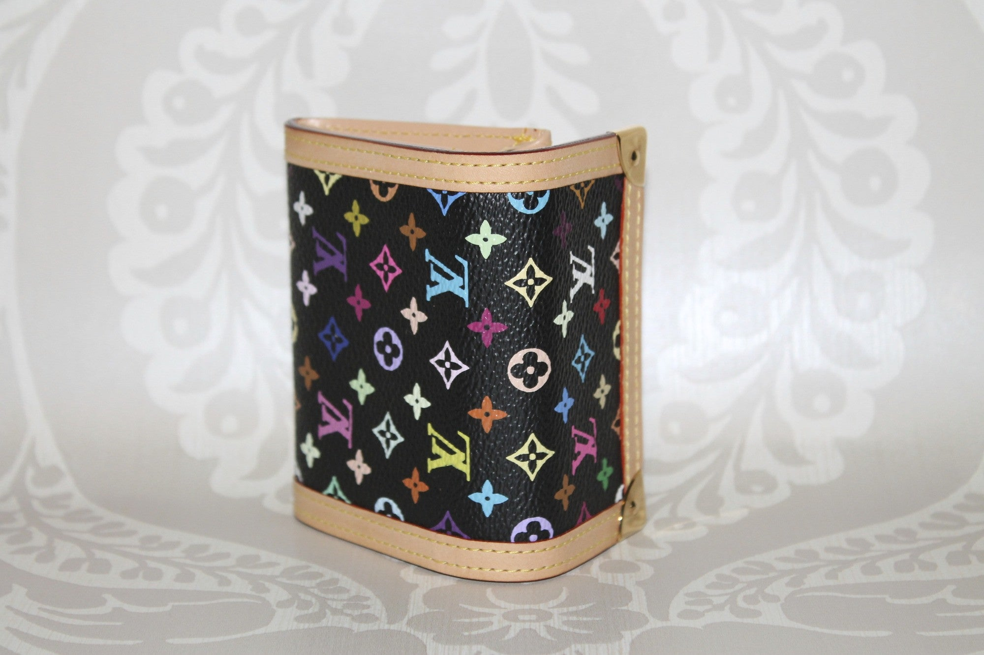 Authentic LOUIS VUITTON Multi Colour Black Coin Purse