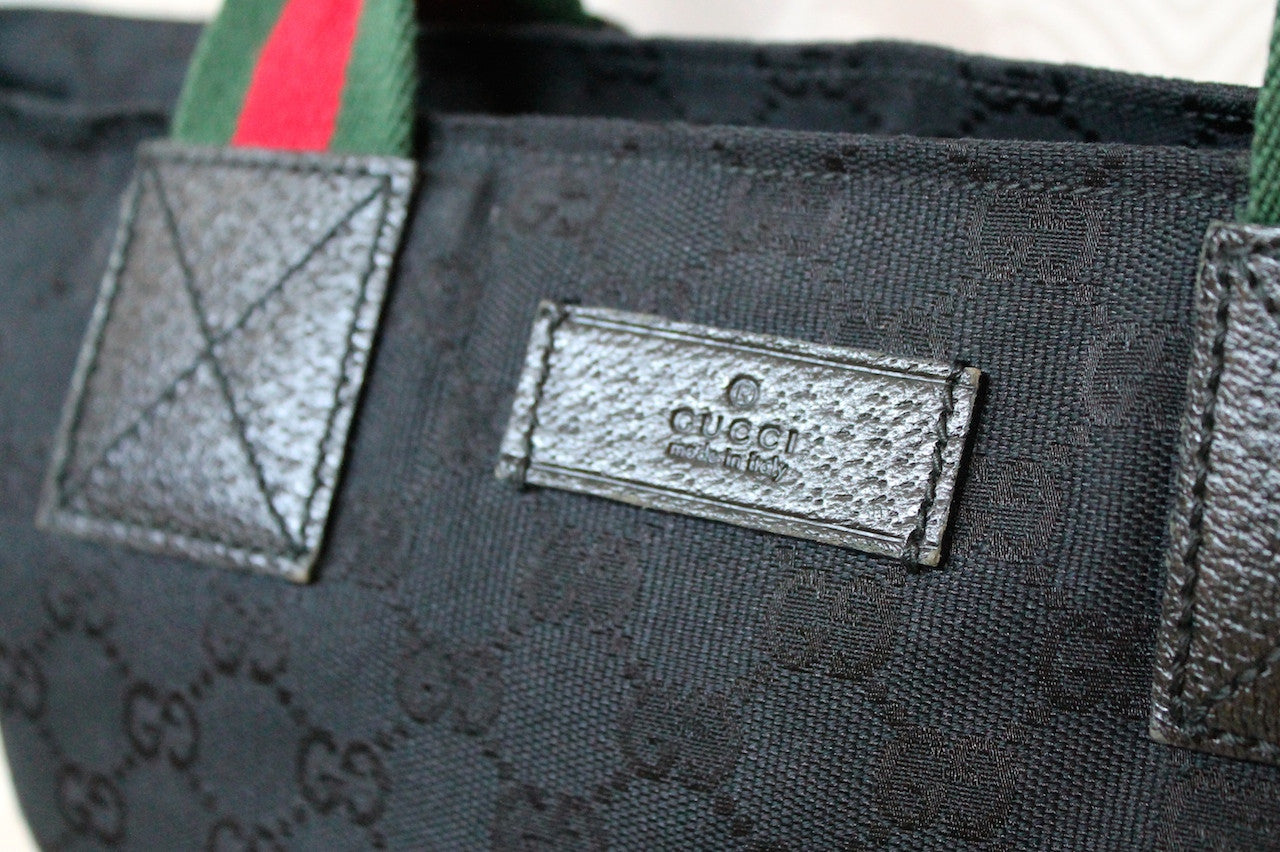Authentic GUCCI Black Canvas Bag