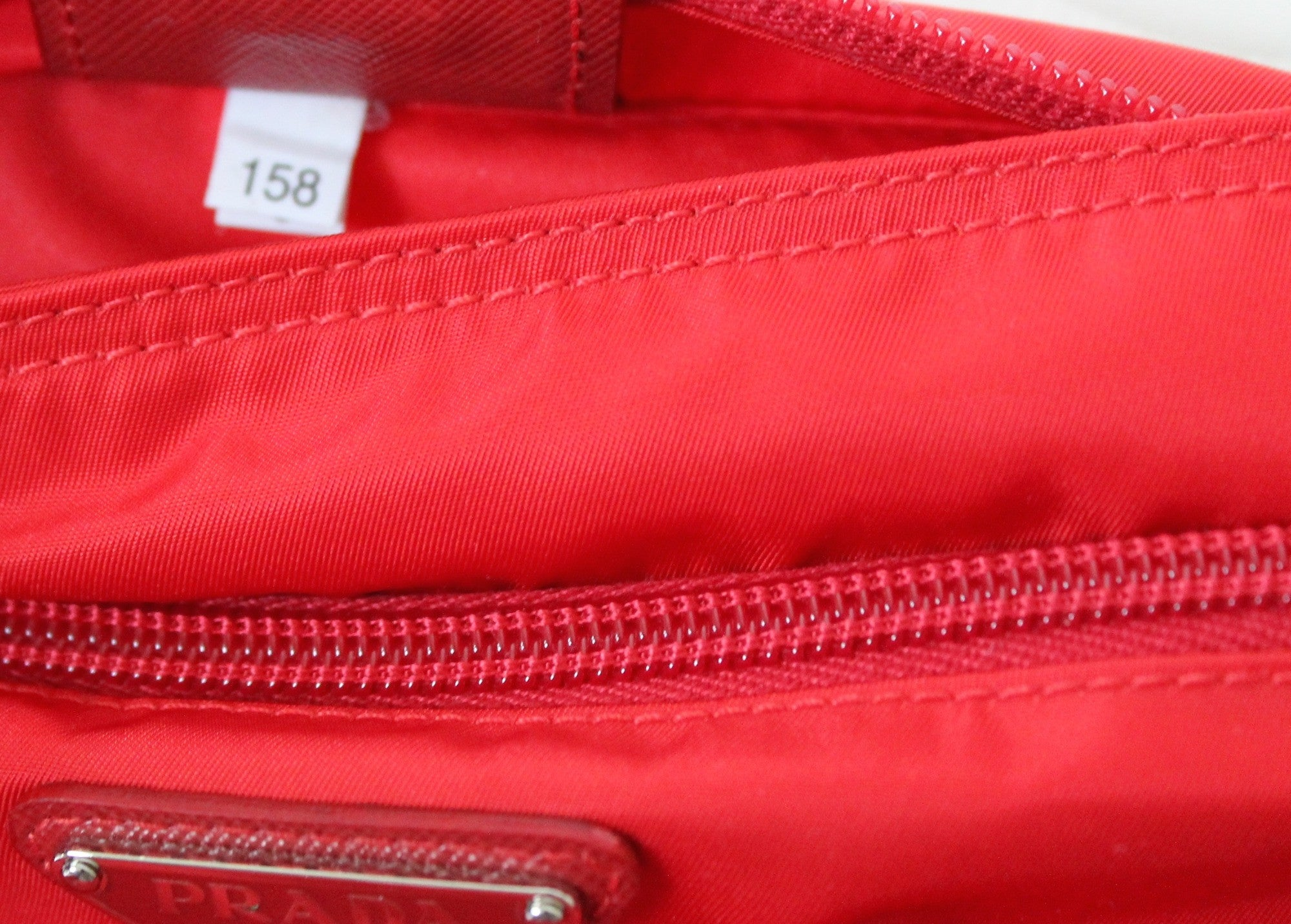 Authentic PRADA Red Messenger Bag