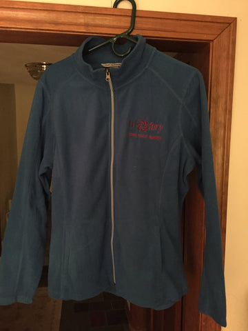 Women's Blue Fleece Med Half Zip