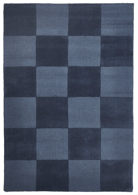 Horizon Wool Hand Loomed Rug - Box Petrol