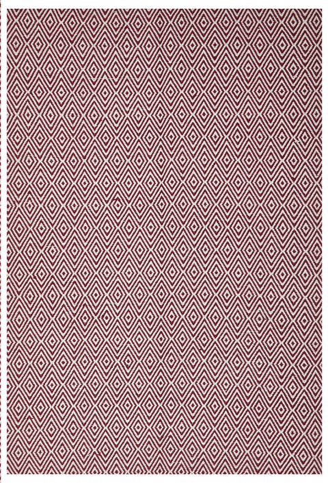 Adore Modern Flatweave Diamond Design Red Rug