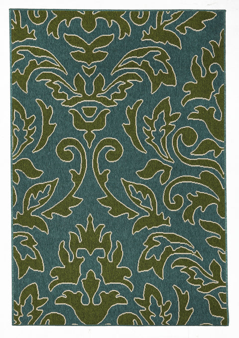 Malibu Aspen Damask Outdoor Rug