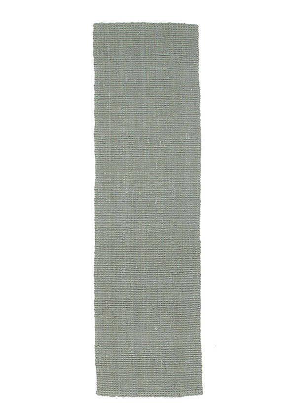 Chunky Natural Fiber Barker Blue Runner Rug