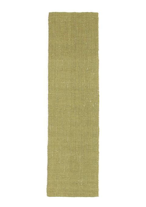 Chunky Natural Fiber Barker Green Runner Rug
