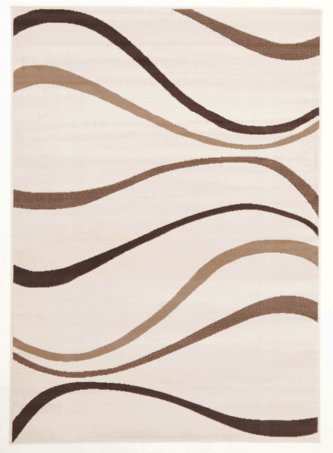 Ruby Modern Dunes Rug Brown
