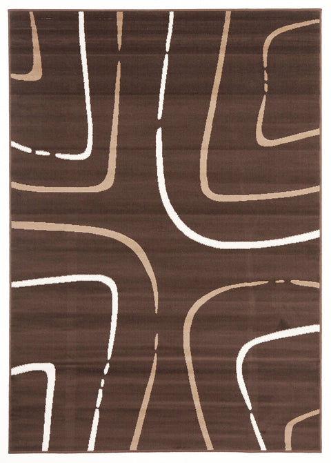 Ruby Curves Rug Brown Beige Cream