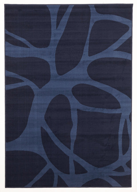 Ruby Abstract Modern Rug Blue