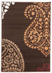 Ruby Funky Paisley Design Rug Brown