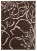 Ruby Modern Flower Outline Rug Brown