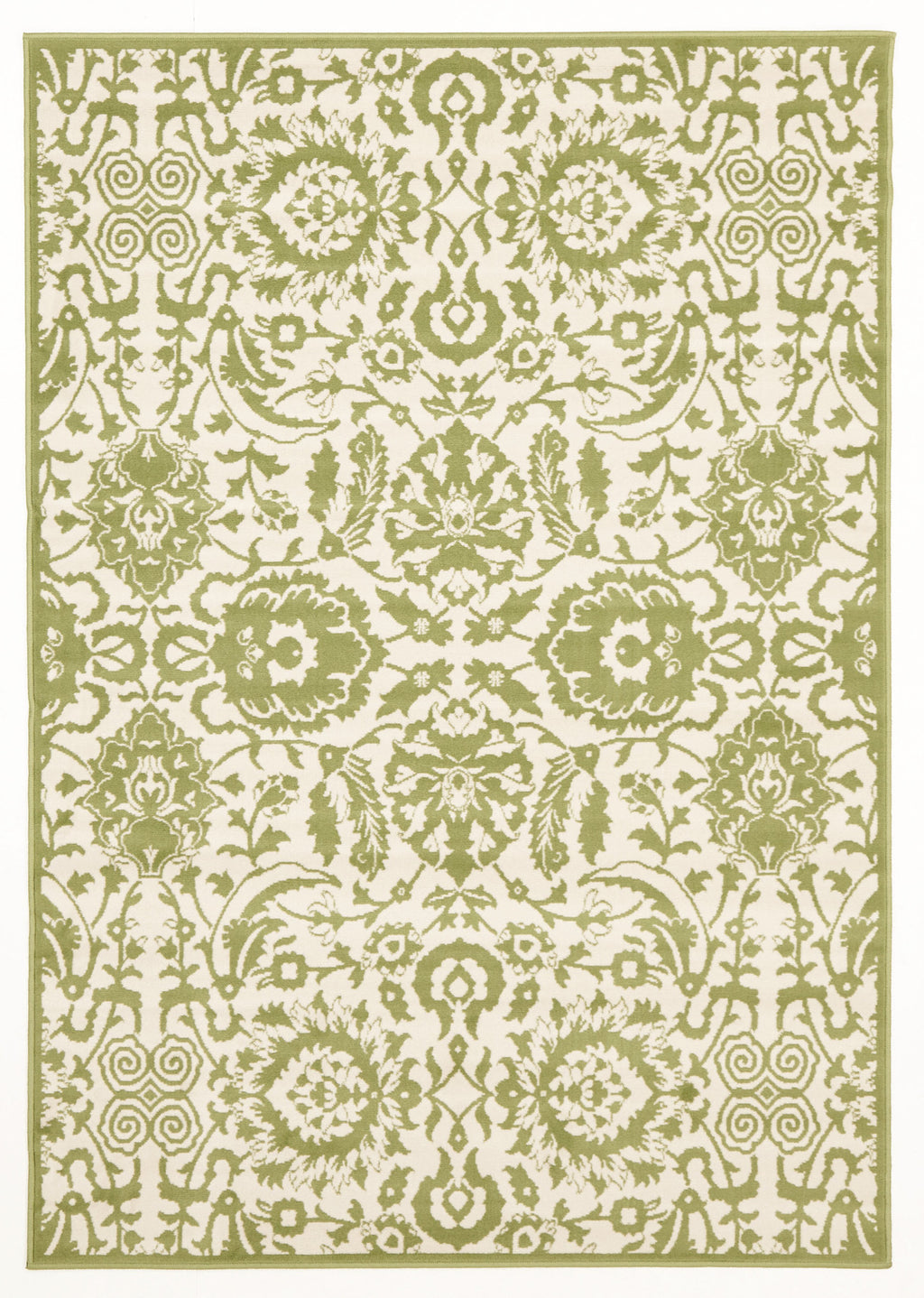 Ruby Funky Lace Design Rug Lime