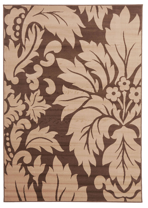 Ruby Dark Brown And Light Brown Pattern Rug