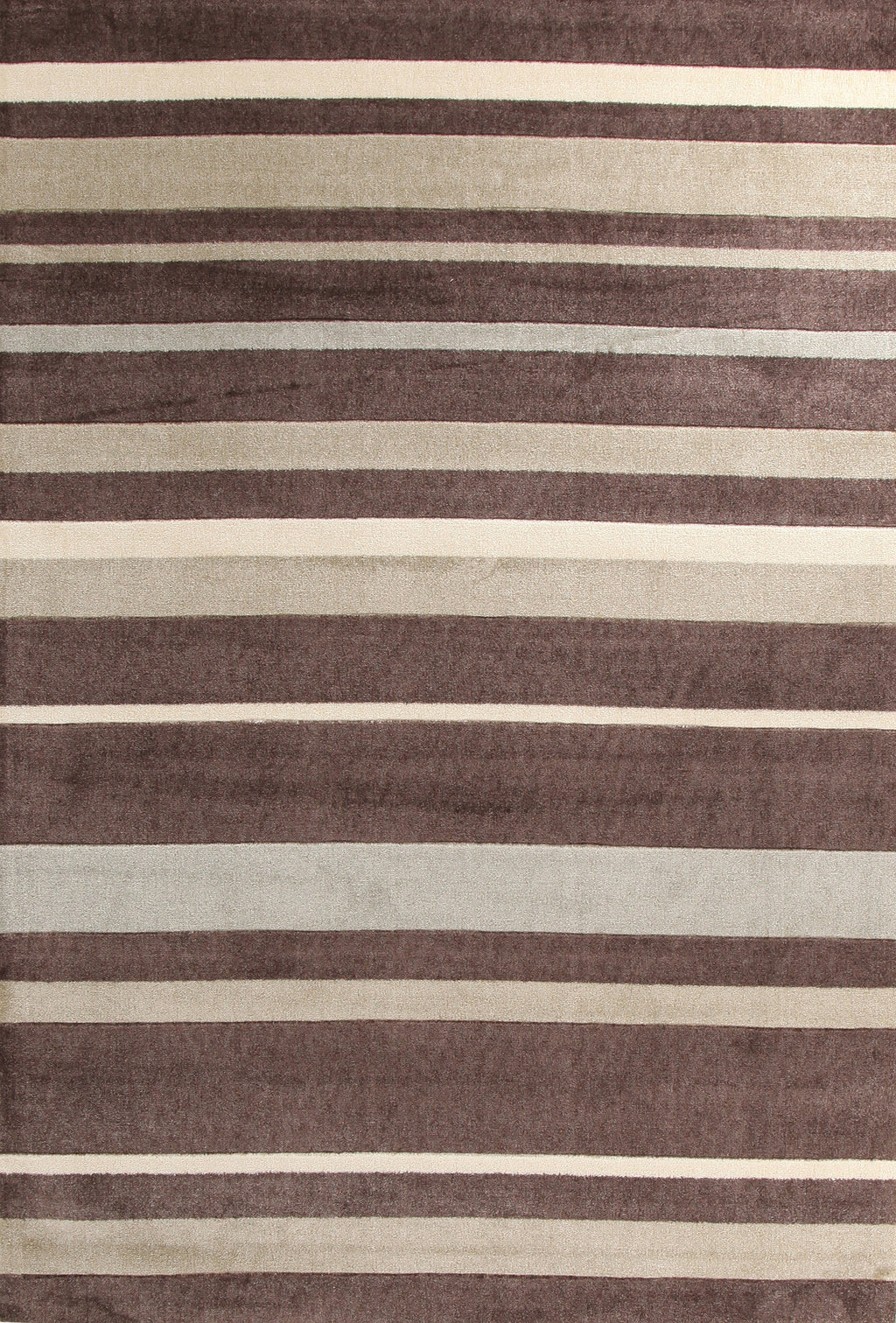 Brighton Stylish Stripe Rug Brown Beige