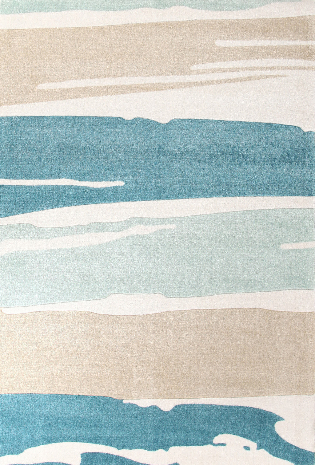 Brighton Brush Strokes Rug Blue