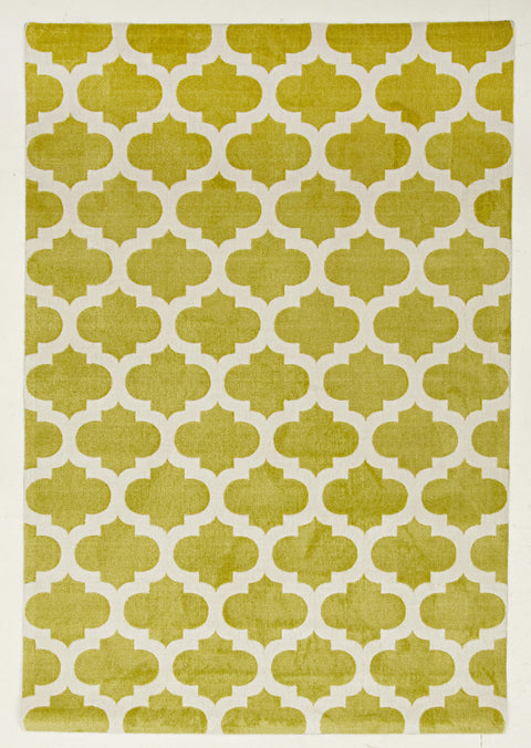 Brighton Trellis Stylish Design Rug Green