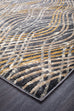 Destiny Flurry Modern Charcoal Runner Rug