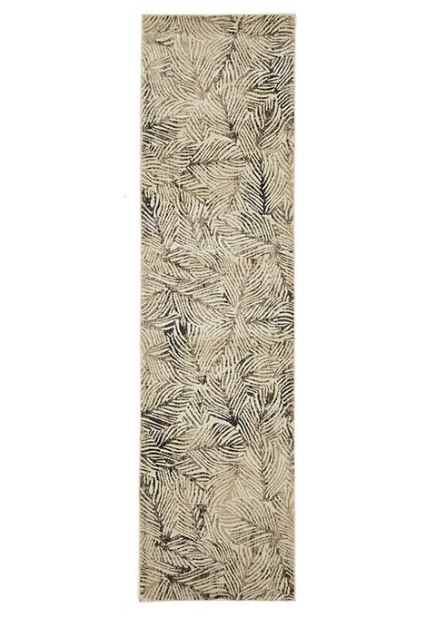 Destiny Artistic Nature Modern Charcoal Runner Rug