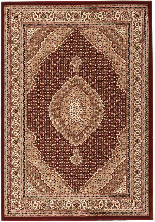 Emerald Stunning Formal Oriental Design Rug Red