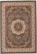Emerald Stunning Formal Medallion Design Rug Green