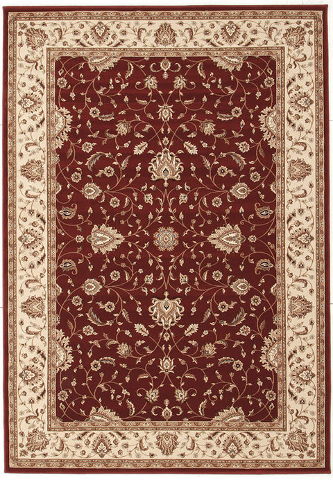 Emerald Stunning Formal Classic Design Rug Red