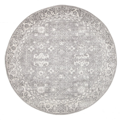 Estella Pidgeon Grey Transitional Round Rug