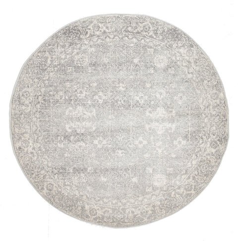 Estella Shine Silver Transitional Round Rug