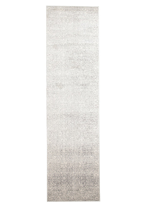 Estella Shine Silver Transitional Runner Rug