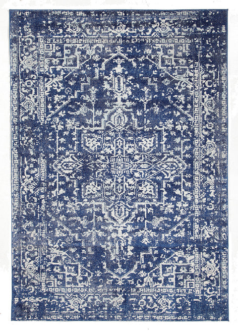 Estella Contrast Navy Transitional Rug