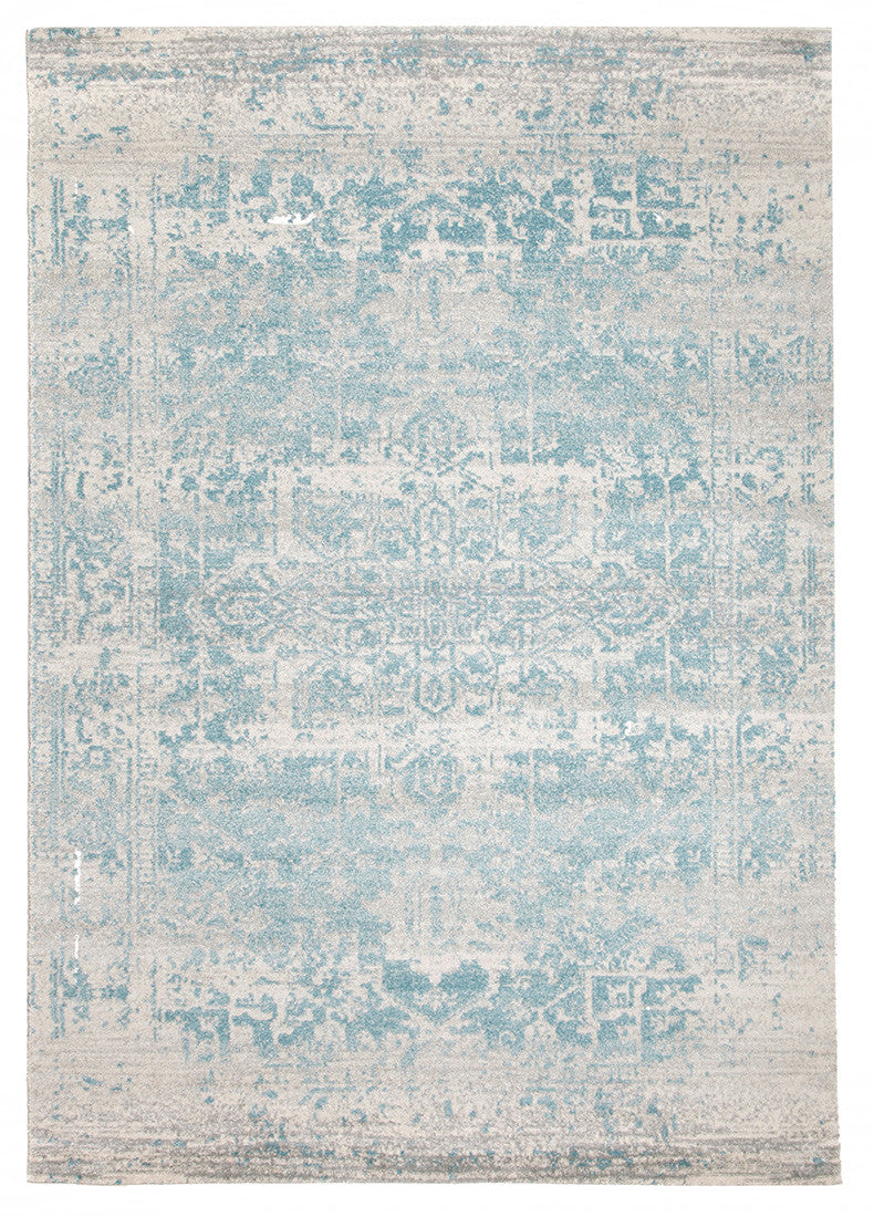 Estella Glacier White Blue Transitional Rug