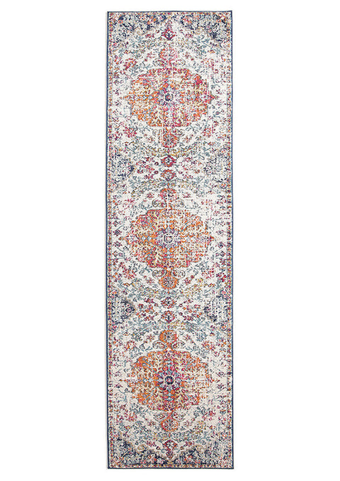 Estella Carnival White Transitional Runner Rug