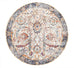 Estella Peacock Ivory Transitional Round Rug