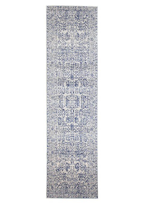 Estella Frost Blue Transitional Runner Rug