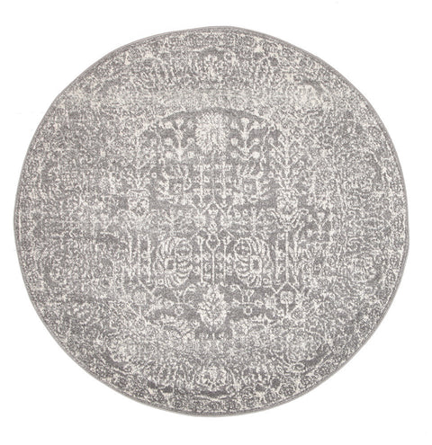 Estella Homage Grey Transitional Round Rug