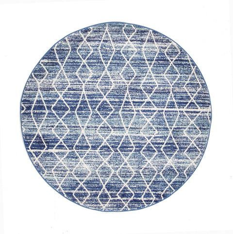 Estella Culture Blue Transitional Round Rug