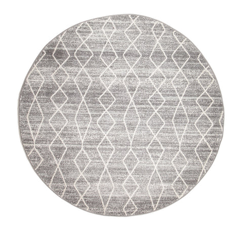 Estella Remy Silver Transitional Round Rug