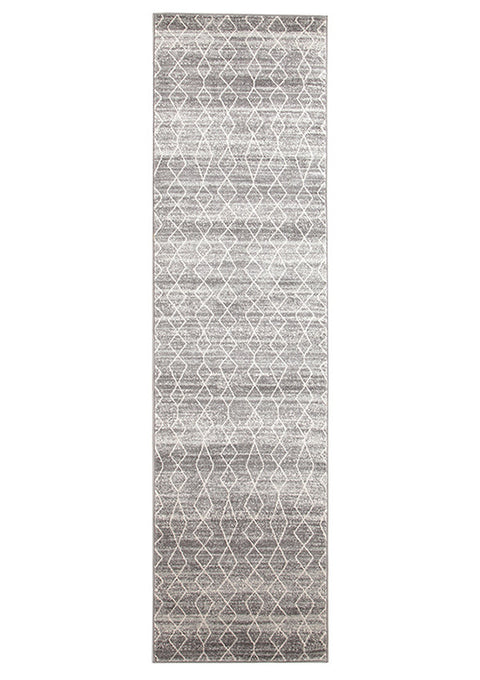Estella Remy Silver Transitional Runner Rug