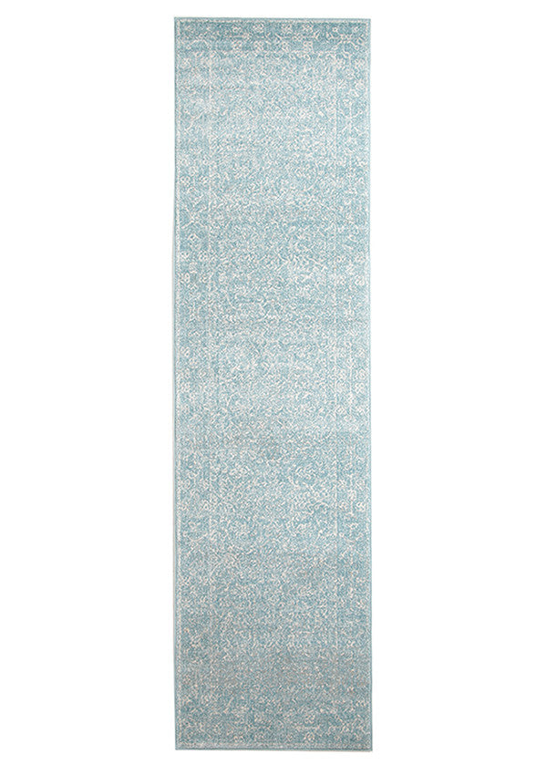 Estella Depth Blue Transitional Runner Rug