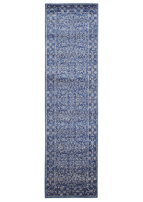 Estella Artist Navy Transitional Runner Rug