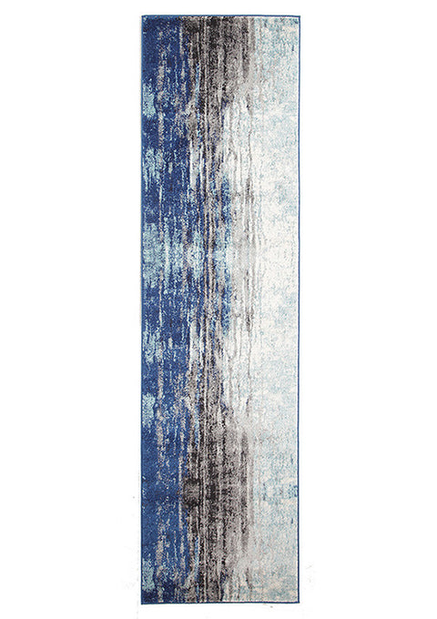 Estella Transpose Blue Transitional Runner Rug