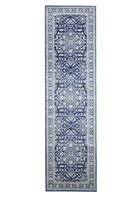 Estella Release Navy Transitional Runner Rug