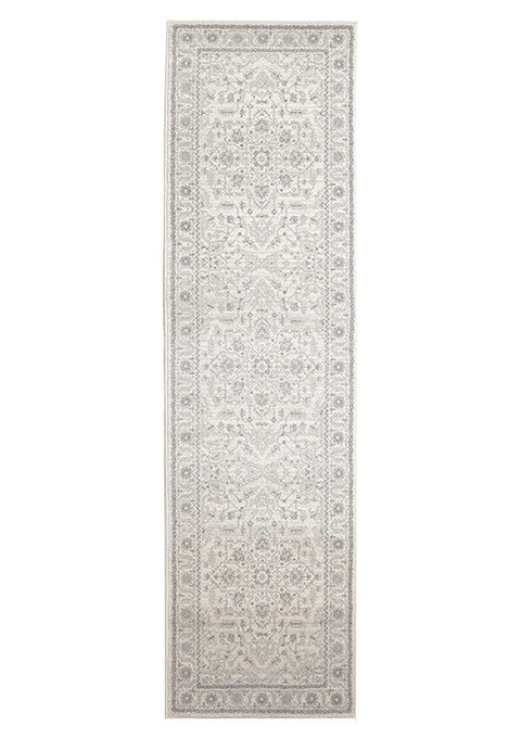Estella Winter White Transitional Runner Rug