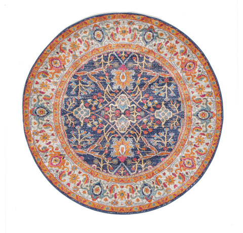 Estella Splash Multi Transitional Round Rug
