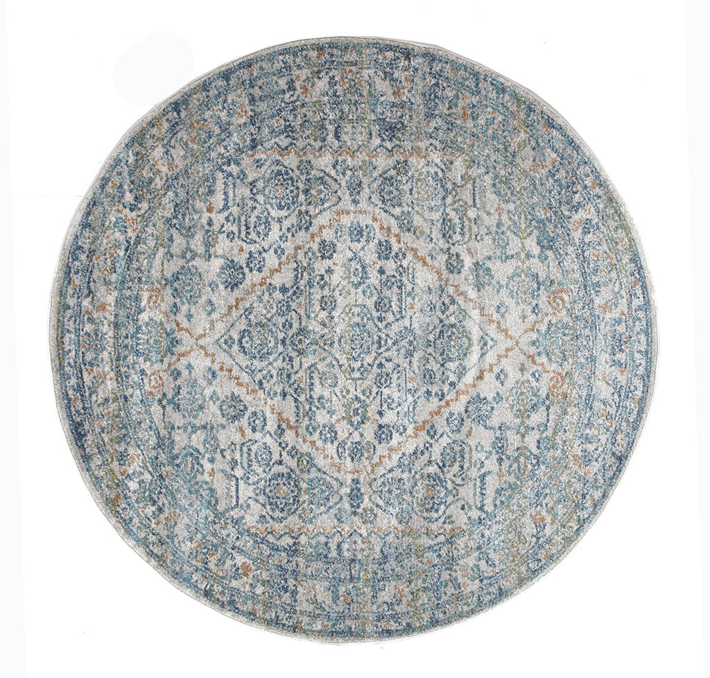 Estella Duality Silver Transitional Round Rug