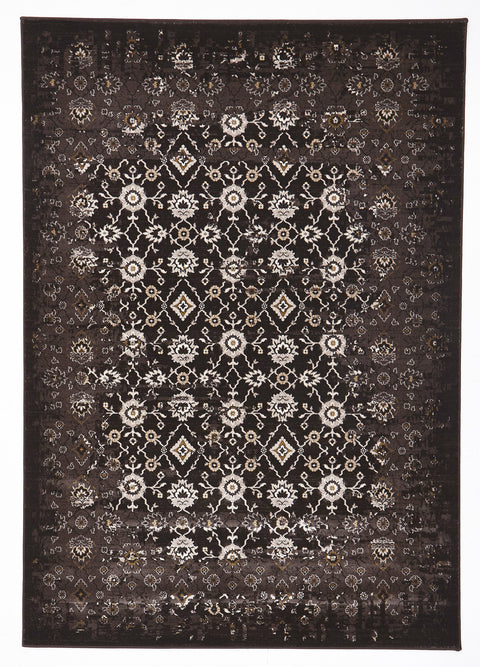 Royal Royal Kashan Designer Rug Chocolate Brown