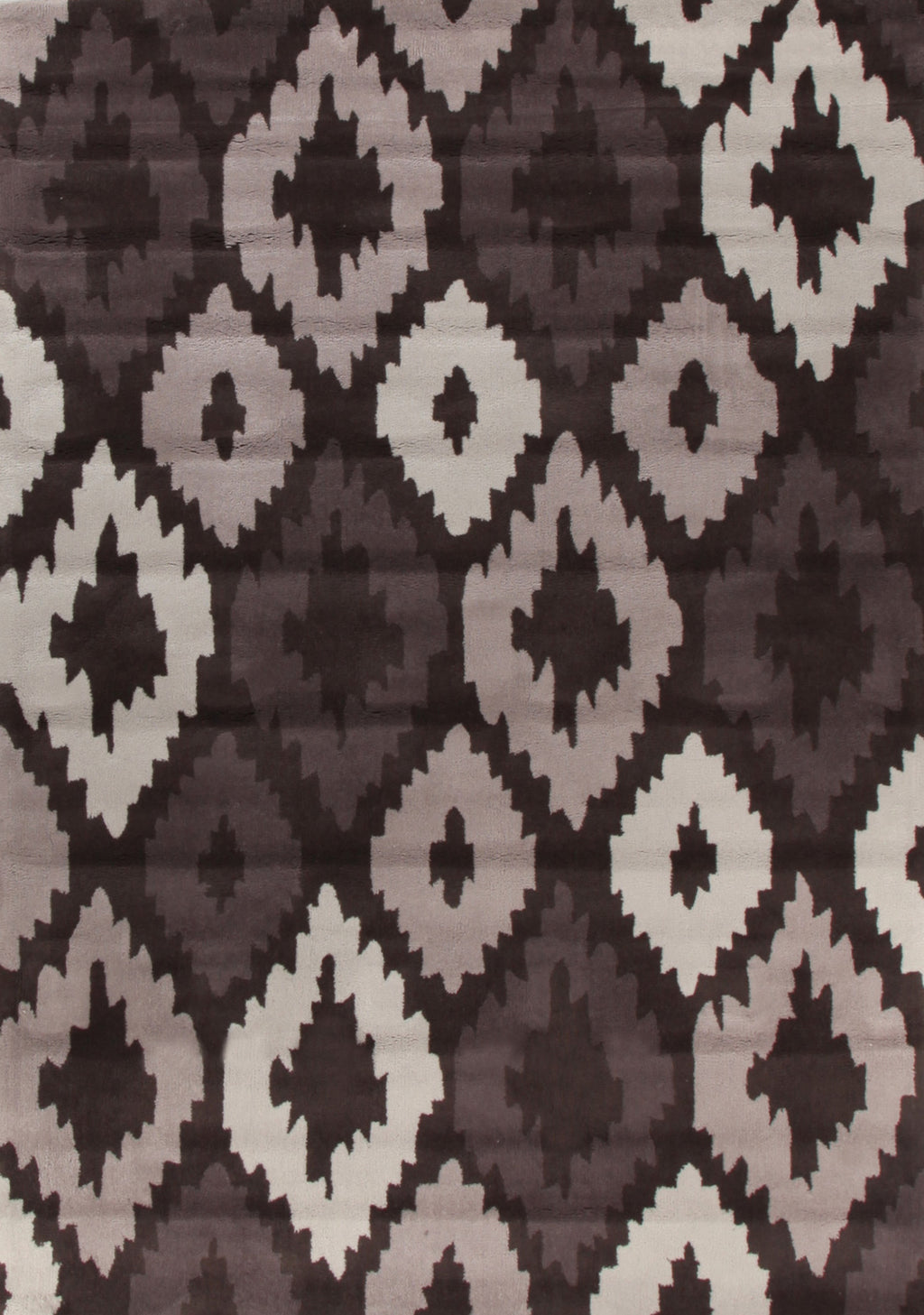 Grande Ikat Diamonds Brown Beige Rug