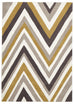 Grande Multi Chevron Rug Yellow Brown