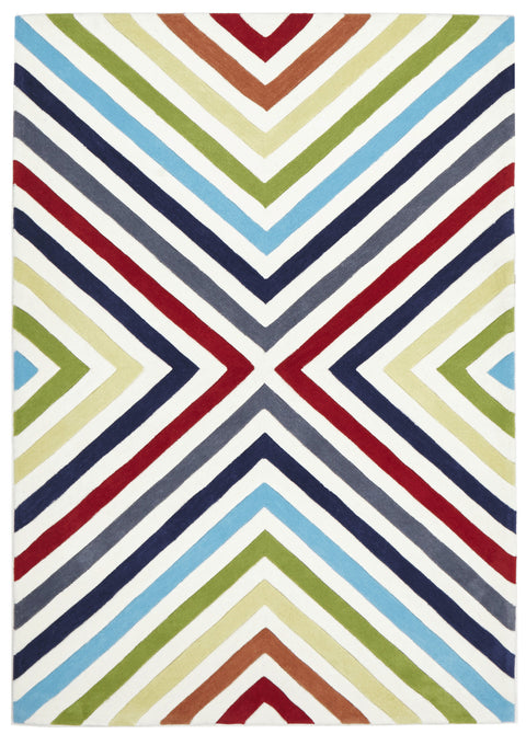 Grande Cross Roads Design Rug Multi