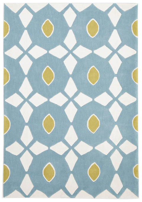 Grande Blue and Yellow Nest Rug